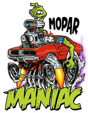 Mopar Maniac Dodge Charger T-Shirt Rat Fink Art-Mens Various Sizes--Brand New--
