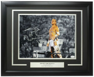 Shawn Michaels Signed Framed 11x14 WWE Photo HBK JSA Hologram