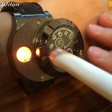 Lighter Watch Military USB Charging Wrist Windproof Rechargeable Cigarette Light