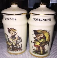 Cloves & Coriander Spice Jars Mint M.J. Hummel Switzerland 1987 More Available!