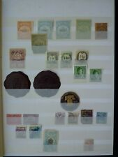 Large Collection Cinderella, Fiscal And Charity Stamps In Stock Book. 12 pics.