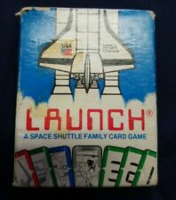 Launch Space Shuttle Family Card Game Complete — Vintage 1986 Rare HTF NASA