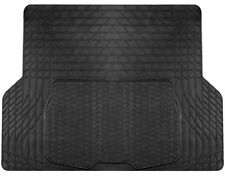 Large Durable Black Rubber Car Boot Mat Liner for Renault Logan - Cutting Lines