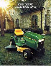 JOHN DEERE 130 160 165 175 180 5  LAWN  TRACTORS  SPECS  BROCHURE A59  (87-1)