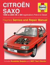 Haynes Citroen Saxo Service & Repair Manual 1996 to 2004 N to 54 Petrol Diesel