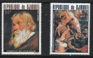 Djibouti   1978   Sc # C113-14   Painting   MNH   (55176)