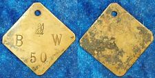 Previously unknown Brass brand B-W 50 1910 Colonies: German South West Africa ss