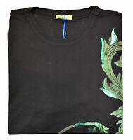 Maglia Maglietta T-Shirt Girocollo VERSACE JEANS Nero Black T-Shirt Crew Neck Uo