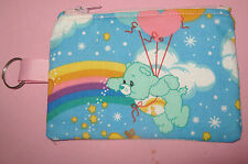 Novelty Coin Purse w/ Key Ring -Handmade from CARE BEARS  Print Fabric
