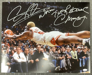 Dennis Rodman Signed Photo 16x20 Bulls Auto Worm 7x Rebound Inscription HOF JSA1