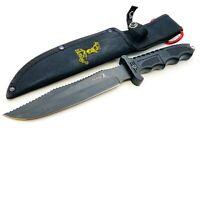 "Elk Ridge Fixed Blade Survival / Hunting Knife ~7"" Stainless Blade - w/ Sheath"