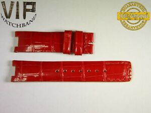 NEW OEM Authentic Jaeger LeCoultre strap 16 mm alligator red color