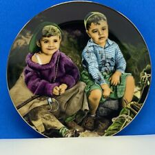 The Little Rascals collectors plate Hamilton Porky Spanky Roughin It round up