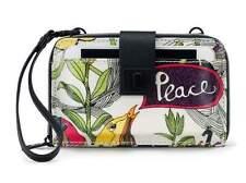 NWT Sakroots Smartphone Wristlet Wallet Crossbody Optic Peace New SHIP INTL