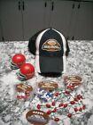 Vintage lot of Budweiser Bud Bowl Hat Cap Mardi Gras Beads Helmets