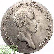 Z612) Brandeburgo-Prusia táleros 1814 a Friedrich Wilhelm cariñosamente, 1797-1840