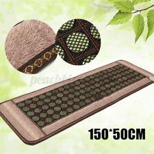 "59""x20"" Home Natural Jade Tourmaline Massage Stones Infrared Heating Mat Pad"