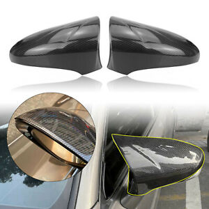 Pair Carbon Fiber Side Mirror Cover For Lexus IS RC 200 300 350 RC F SPORT
