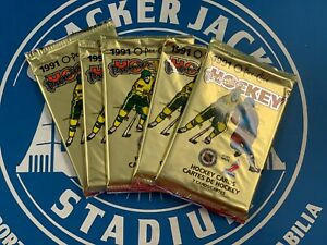 1990-91 O-P-C Premier Hockey Factory Sealed Pack * 7 Cards