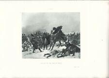 Stampa antica NAPOLEONE BONAPARTE BATTAGLIA DI EYLAU 1893 Old antique print