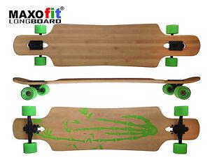 "Drop Through Longboard ""Bamboo Race  No.4"", 107 cm von MAXOfit®"