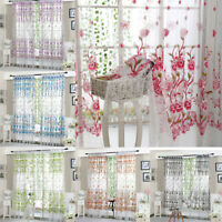 Peony Sheer Curtain Tulle Window Treatment Voile Drape Valance 1 Panel Fabric