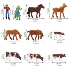 36pcs HO Scale 1:87 Well Painted Farm Animals Cows Horses Figures Model Railway