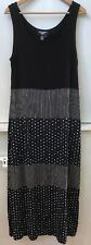 St Tropez West Maxi Tank Dress Black Cream Sleeveless Size 8