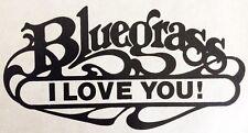 Original Bluegrass I Love You! Iron On Transfer