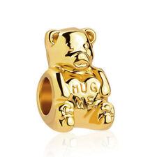 GOLD PLATED TEDDY BEAR HUG ME BEAD CHARM GENUINE BARGAIN LIMITED QTY SALE!!