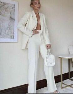 Las Mejores Ofertas En Pantalones Blancos Zara Para De Mujer Ebay