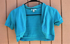 BOLERO TOP WOMENS TEAL GREEN SPEECHLESS SIZE 3 COVER UP