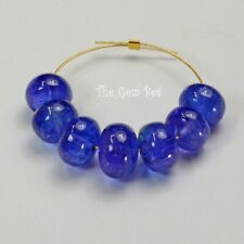 8mm-10.5mm Large Tanzanite Smooth Rondelle Beads (7)
