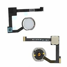 NEW Replacement White & Silver Home Button With Flex Cable For iPad Air 2