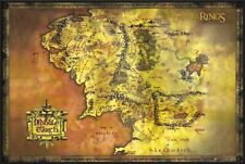 The Lord Of The Rings - Framed Movie Poster Print (Classic Map Of Middle Earth)