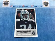 2002 Fleer Tradition Mini #126 CHARLES WOODSON | Sp # /125 | Oakland Raiders