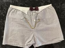 Vintage Boxer Shorts Novelty Suit Shirt Style Size M/L Cotton Made In Usa