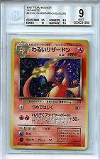 Pokemon Japanese 1997 Team Rocket Evil Charizard BGS 9.0 Mint #6 Holo Card 1390