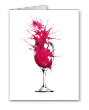 Red Wine Note Cards With Envelopes