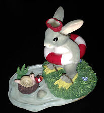 """Charming Tails """"Come On In-The Water's Fine"""" Bunny in Buoy (F&F) retired 2000"""