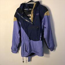 Vintage The North Face Womens sz 14 Jacket Parka Color Block Purple Blue 90s vtg
