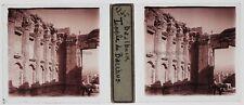 Baalbek Liban Lebanon Photo T4P6 Plaque de verre Stereo 1935
