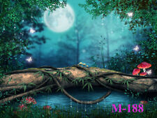 LB Polyester Photo Background Backdrop 7X5FT Studio Props Fairy Tale Moon Scenic