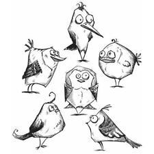 Tim Holtz Rubber Stamp Set-oiseau fou CMS 212