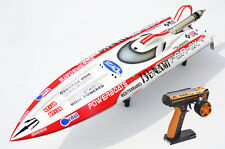 DT125 Tunami 2.4Ghz RC Racing Speed Boat Gas 30CC Engine 70Km/h Fiber Glass ARTR