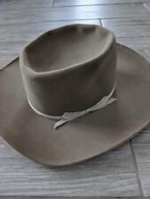 1950s vintage MILLER western denver COWBOY hat 7-1/4 brown FUR 4X small