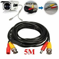 5M 2 in 1 Audio Video 12V DC Power Cable CCD Security Camera BNC RCA CCTV DVR