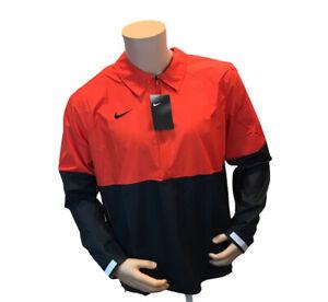 Nike Lightweight Coaches Jacket|Wind Breaker CI4474-657 Red|Black NWT Size Large