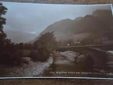 Vtg B/W Postcard LANGDALE PIKES DUNGEON GHYLL LAKE DISTRICT CUMBRIA Real Photo