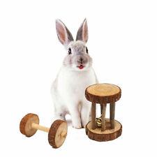 5 Stück / Set Naturholz Kaninchen Spielzeug Kauspielzeug für kleine Haustier DMZ